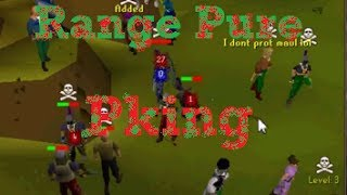 2007 Runescape- Low Level Range Pure Pking with Commentary