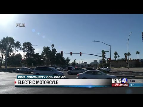Pima Community College PD using electric patrol motorcycle