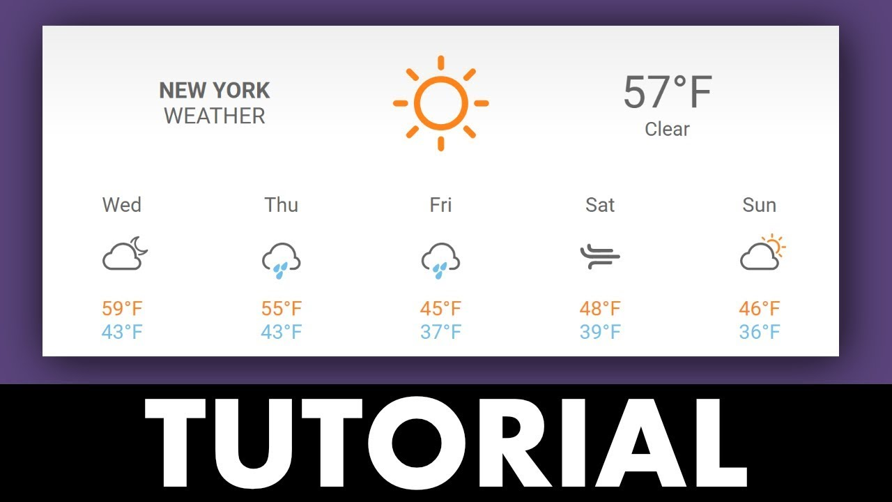 Weather Widget For Any Website