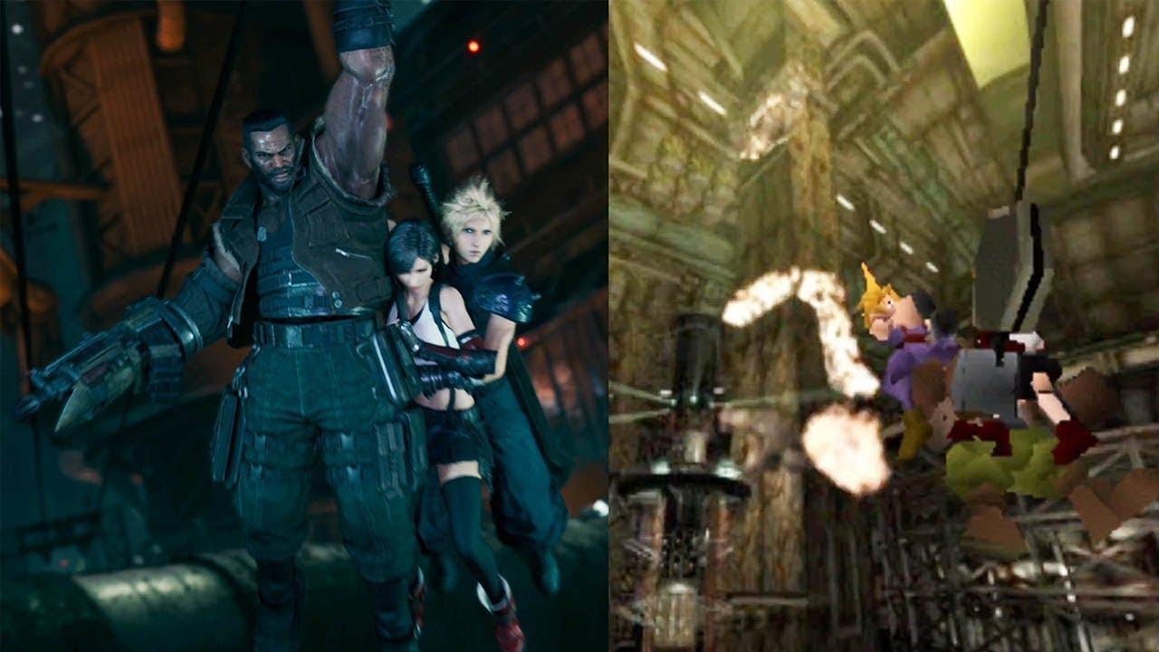 Final Fantasy VII - Original vs Remake Sector 7 Collapses @ 1440p ...