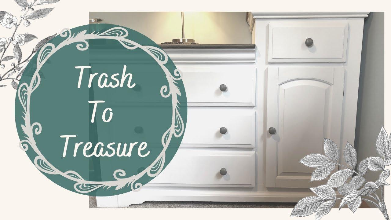 TRASH TO TREASURE DIY | TRASH TO TREASURE FURNITURE | DIY FARMHOUSE TRASH TO TREASURE | RECYCLED DIY