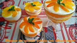 Mousse de yogurt griego con albaricoque(Greek yogurt mousse with apricot)