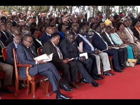 Uhuru, Raila share platform today at former Nairobi mayor's burial after the Supreme Court ruling