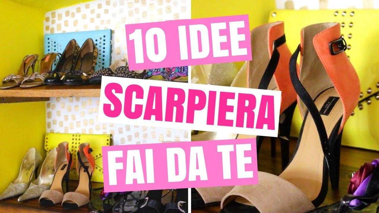 Scarpiera Fai Da Te.10 Idee Scarpiera Fai Da Te Facile Come Organizzare La Scarpiera Per Scarpe Sempre In Ordine Diy