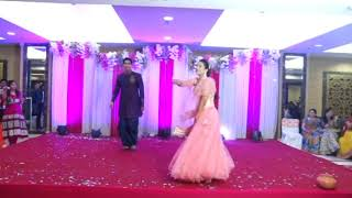 Tenu Leke mai jawanga Indian Wedding Dance at Sangeet Ceremony: Bride & Groom