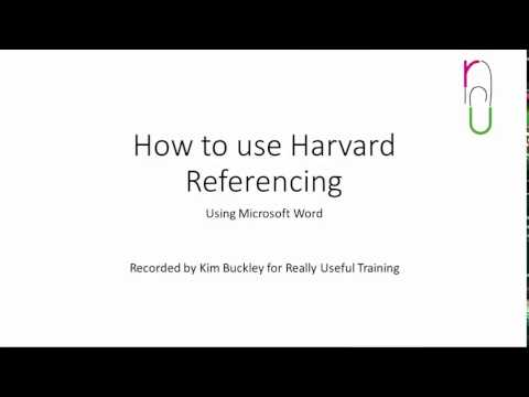 How To Use Harvard Referencing In Your College Report