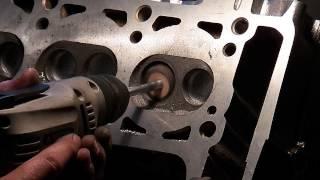 Увеличение мощности двигател часть-2 увеличение воздушных каналов головки.