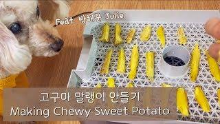 ENG)쫀득쫀득 고구마 말랭이 만들기 (feat. 방해…