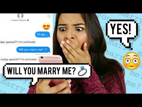 "Pranking my BOYFRIEND with ""Marry Me"" by Jason Derulo LYRICS!"