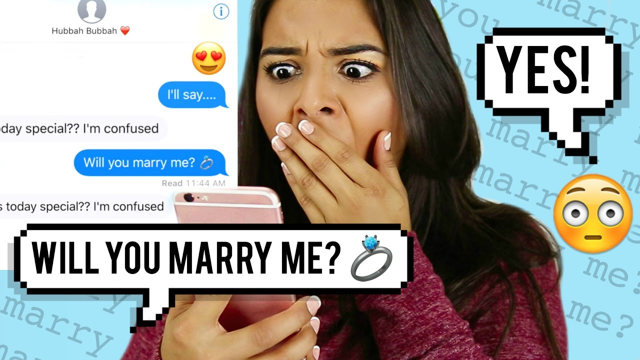 "Pranking my BOYFRIEND with ""Marry Me"" by Jason Derulo LYRICS! #1"