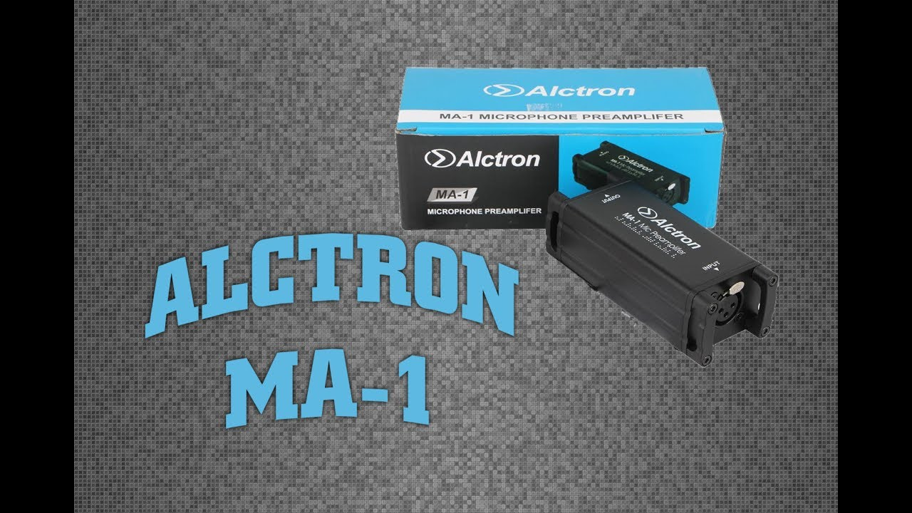 Alctron MA 1 Microphone Preamp Review / Demo with a Shure SM58 - link to  purchase in description