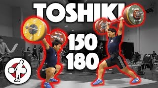 Toshiki Yamamoto Heavy Training (150 Snatch, 180 Power C&J) - 2017 WWC Training Hall [4k 60]