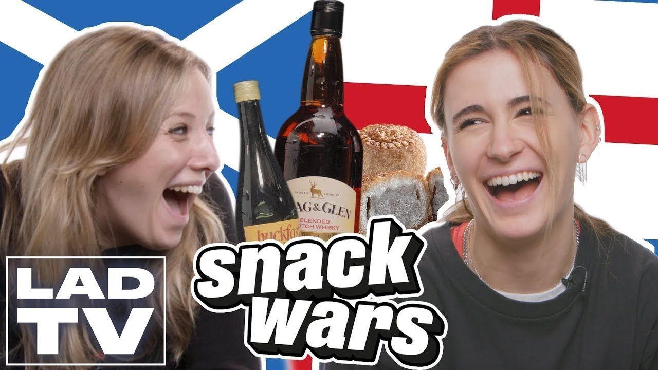 English Girl Hates Scottish Snacks | Snack Wars: Fight For Your Country | LADbible TV