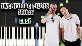 Twenty one Pilots - Truce - EASY - Piano Tutorial Synthesia (Download MIDI + PDF Scores)