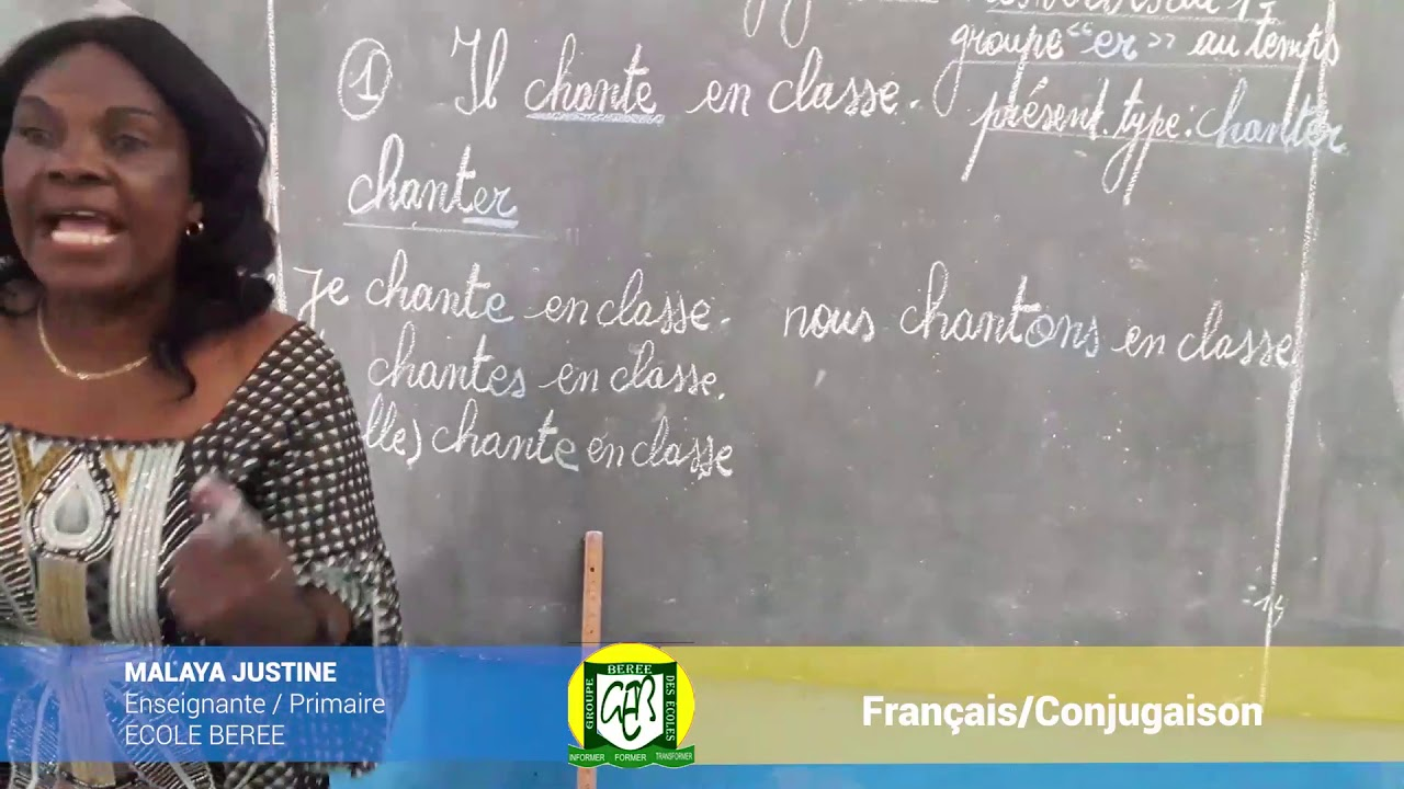 ECOLE BEREE PRIMAIRE Cours de Français CONJUGAISION 2 - YouTube