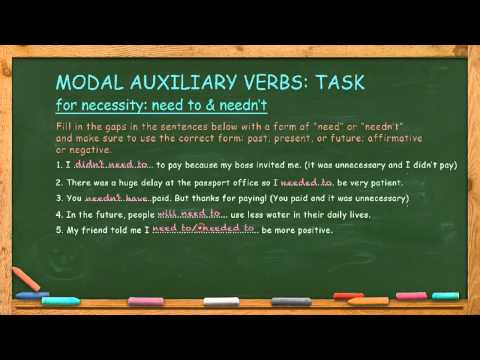 How to Use Modal Auxiliary Verbs for Necessity: Need To & Needn't