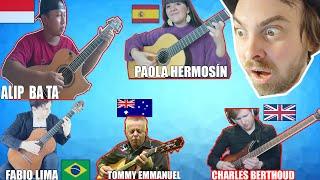 I react to AMAZING GUITARISTS (..Alipbata, FabioLima, T. Emmanuel, Charles Berthoud, Paola Hermosin)