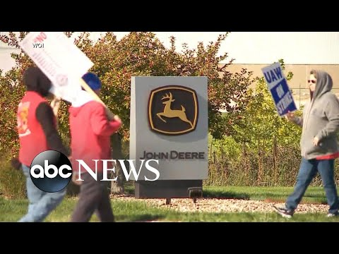 John Deere workers on strike: 'They can't take our money'
