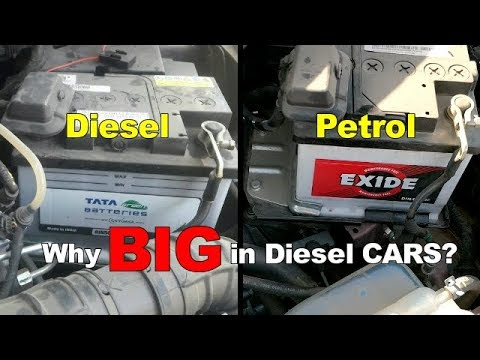 DIESEL CAR में बड़ी BATTERY क्यों होती है ? || With BALENO And TIAGO Example | DDS