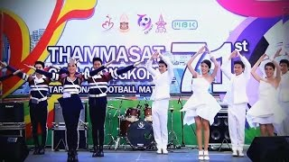 """เชียร์ลีดเดอร์ จุฬา-ธรรมศาสตร์ (show) @ """"71st TU-CU Traditional Football Match"""" :MBK"""