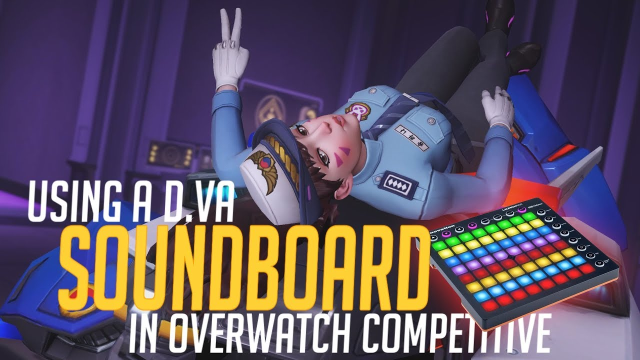 Using a D Va Soundboard in Overwatch Competitive! (Overwatch Trolling)