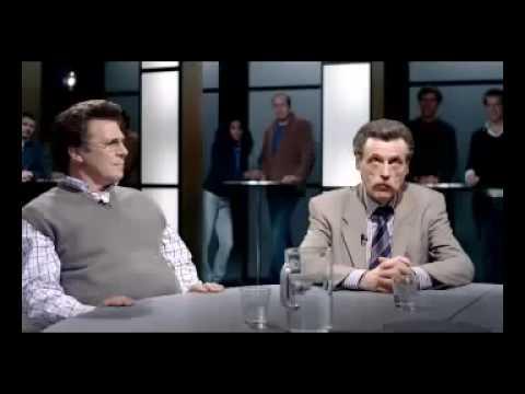 Johan Derksen en Willem van Hanegem in een reclame van  KPN-digitenne