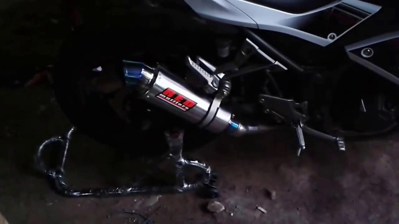Red Mufflers Knalpot M17 Kawasaki Ninja 250 Fi Slip On Youtube Prospeed Mf Series Yamaha New Vixion150 Full