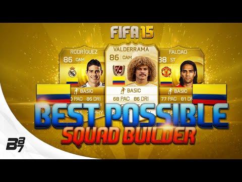 BEST POSSIBLE COLOMBIA TEAM! w/ VALDERRAMA | FIFA 15 Ultimate Team Squad Builder