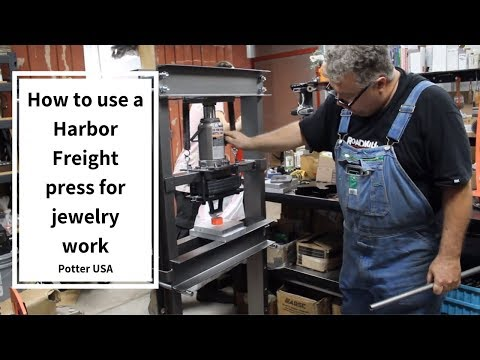 How to use a Harbor Freight Press for Jewelry Work
