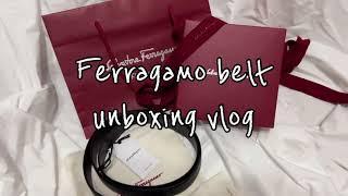 ferragamo belt unboxing vlog