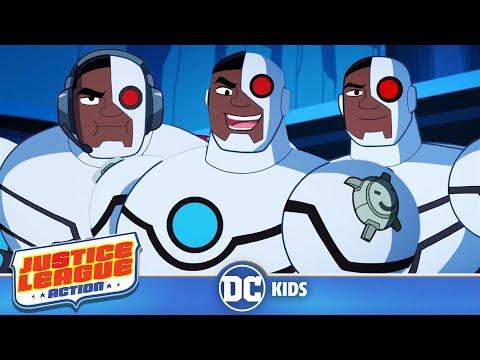 Justice League Action em Português  Cyborgue em Ação  DC Kids