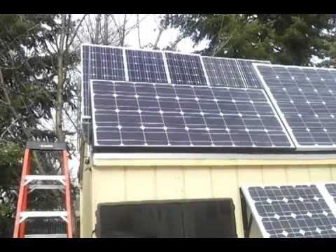 SOLAR SHED BACK FEED SOLAR PANEL GRID TIE INVERTER UPDATE