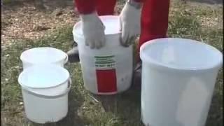 Монтаж жидкой гидроизоляции BM 92. Клей для пеностекла.