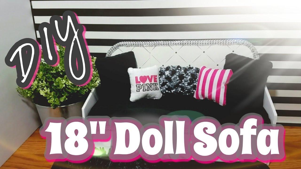 18 doll sofa diy wicker for sale youtube