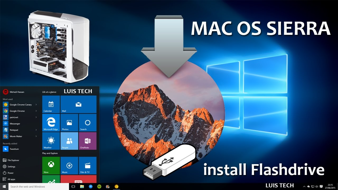 criar pendrive de boot mac os x no windows