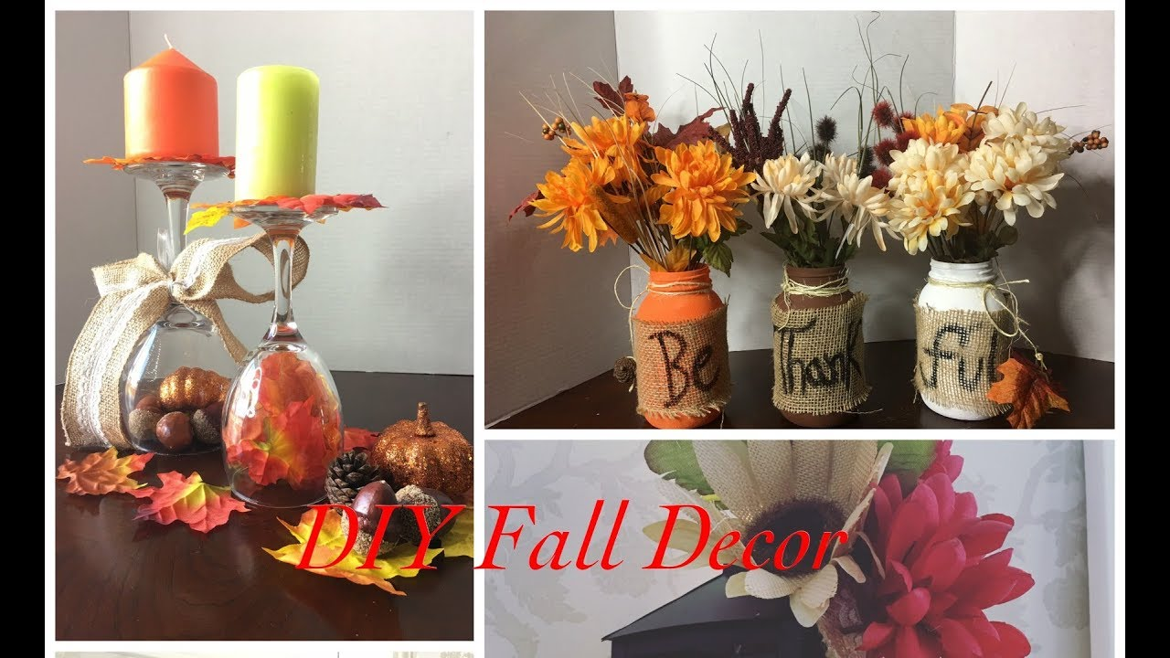 Diy Dollar Store Fall Decor Ideas Youtube