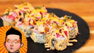 Как приготовить горячий ролл | Мастер класс суши