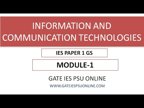 ICT INFORMATION AND COMMUNICATION TECHNOLOGIES MODULE 1