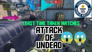 'Record' least time taken attack of undead ever.  COD MOBILE GAMEPLAY