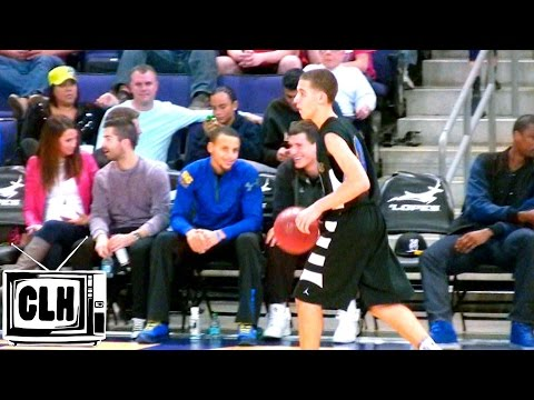 Steph Curry watches Splash Brother #3 - Mike Bibby Jr Class of 2016