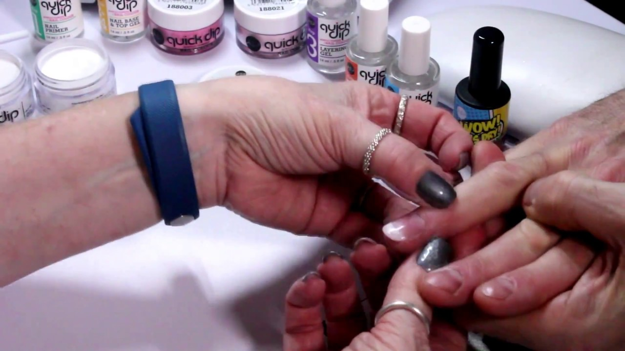 ASP Quick Dip Application W/ Just Lush Nails and Beauty - YouTube