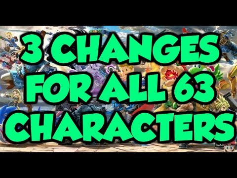 3 *NEW* BUFFS and NERFS for *EVERY* Character in Super Smash Bros. Ultimate! (ALL 63 CHARACTERS)