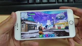 Test Game Fortnite on iPhone 6S Plus