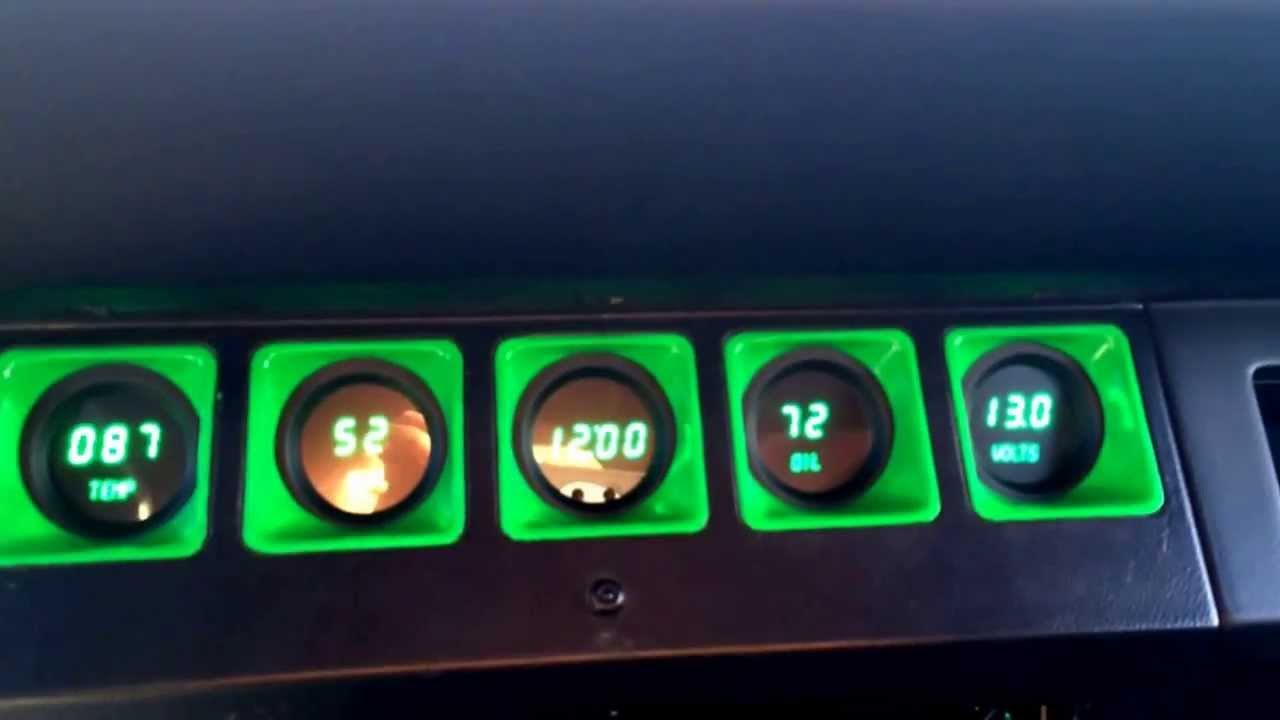 Jeep Digital Gauges : Intellitronix gauges jeep youtube