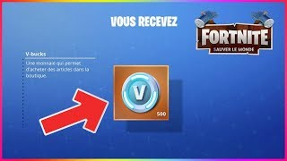 HOW TO PROGRESS FAST AND WIN VBUCK FREE ON FORTNITE SAUVER THE WORLD