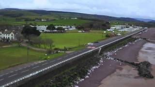 Blue Anchor coast path drone footage