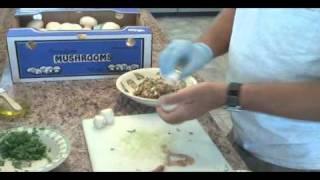 Stuffed Mushrooms W/ Seafood Sausage