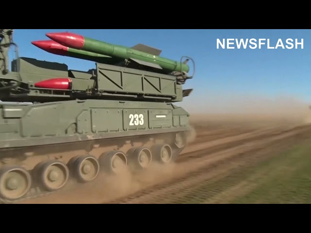 Russian military Puts The The Buk Air-Defence Missile System Through Its Paces