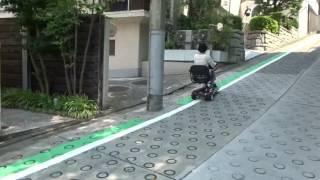 【EVシニアカーMoo】坂道走行(斜度12度)