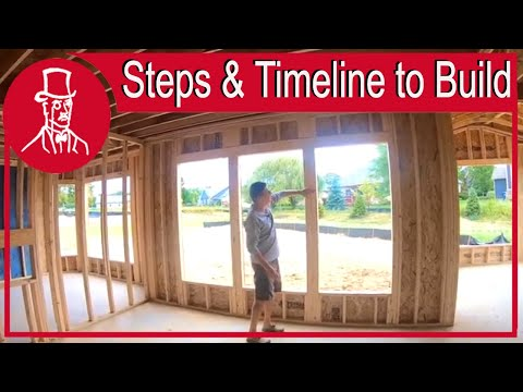 steps to building a house timeline